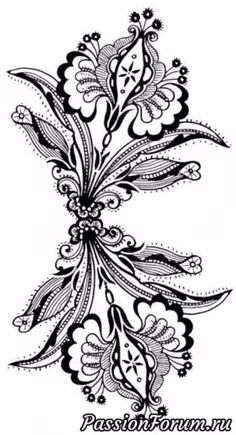 Jacobean Embroidery, Tambour Embroidery, Machine Embroidery Applique, Floral Embroidery, Lace Patterns, Textile Patterns, Embroidery Patterns, Colouring Pages, Adult Coloring Pages