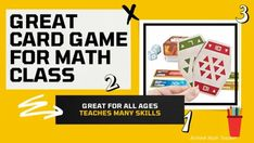 Great Card Game for Math Classes of All Ages - RETHINK Math Teacher Teacher Tools, Math Teacher, Math Classroom, Classroom Activities, Learning Stations, Math Stations, Response To Intervention, Middle School Teachers, Math Skills