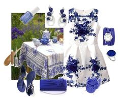 Al fresco dining in a field of irises. by sharee64 on Polyvore featuring polyvore, fashion, style, Alexander McQueen, Miadora, La Mer, StyleRocks, CARGO, Essie and clothing