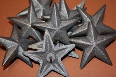 """6 Cast Iron Stars Washer Texas Lone Star Ranch 3 7//8/"""" Large Primitive Raw Craft"""