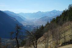 Schweiz Wallis Berge Alpen Rhonetal
