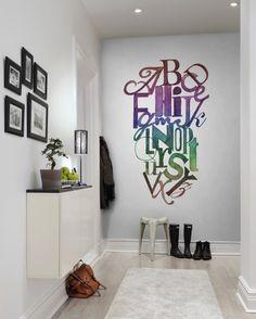 #wallpaper - Ink Letter, Rainbow - rebelwalls.com