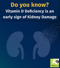 People who are #deficient in #Vitamin D are twice as likely to develop albuminuria. #Albuminuria (a type of protein in urine) is an early indication of #kidney #damage. Check with your doctor to know your Vitamin D status and #kidney #health.