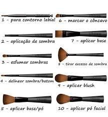 Resultado de imagen para pinceis de maquiagem como usar
