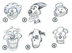 how to draw a clowns face