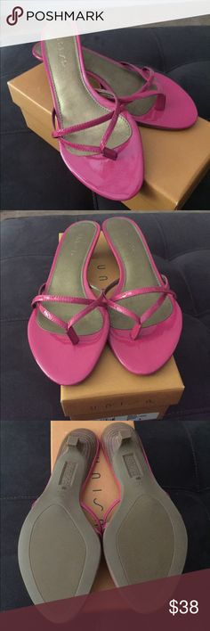 Sandals Unisa  fuschia sandals with kitten heel. Never been worn. So pretty  comes in original box. Unisa Shoes Sandals