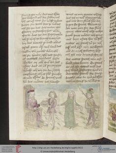 Cod. Pal. germ. 60: Historienbibel ; Irmhart Öser ; 'Brandans Reise' u.a. (Südwestdeutschland, um 1460), Fol 9v