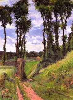 Poplars, Osny, 1883, Paul Gauguin