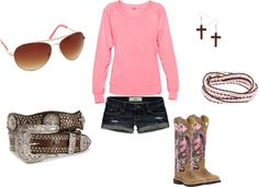 """""""pink and brown"""" by marie11892 ❤ liked on Polyvore"""