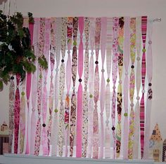 Ribbons, beads, curtains - middle room.