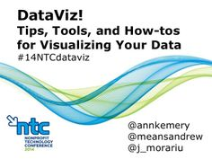 Great Presentation on DataViz! Tips, Tools, and How-tos for Visualizing Your Data by Ann K. Emery via slideshare