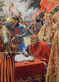 Die Unterzeichnung der Magna Carta 1000