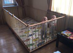Большой детский деревянный манеж 1,3х2,6м с калиткой