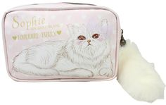 Fluffy Tail White Cat Case