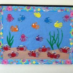 Under the Sea bulletin board! Under the Sea bulletin board! Kids Crafts, Daycare Crafts, Summer Crafts, Toddler Crafts, Preschool Activities, Preschool Displays, Beach Crafts For Kids, Ocean Activities, Preschool Printables