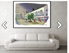 The main street Main Street, Maine, Gallery Wall, Handmade, Etsy, Home Decor, Pictures, Hand Made, Decoration Home