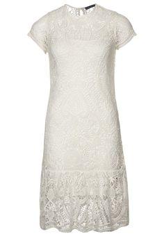 Ralph Lauren Blue Label - MEREDITH - Strickkleid - chic cream. Cute reception dress