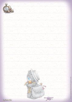 Free Printable Stationery, Printable Frames, Honey Book, Disney Planner, Teddy Bear Pictures, Blue Nose Friends, Envelopes, Notes Design, Borders For Paper