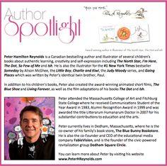 This week's #AuthorSpotlight is #PeterHReynolds a #Canadian #NewYorkTimes #bestseller #childrensbooks #illustrator