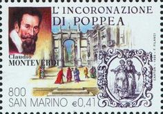 Stamp from San Marino  of Claudio  Monteverdi