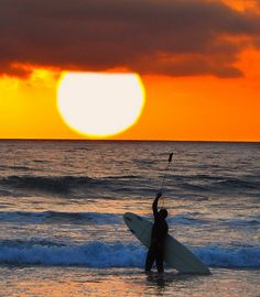 Sunset at South Carlsbad State Beach, California