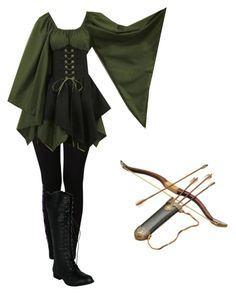 """Elven Archer"" by christiancountrygirl1991 ❤ liked on Polyvore featuring NIKE"