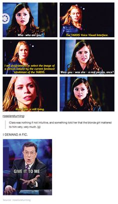 """Rose went away, so the Doctor was blue<<<ask Donna """"Where's the Doctor?"""" She'll reply, """"Doctor who?"""""""