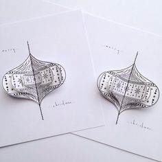 3D Bauble design Christmas card from Bee Designs