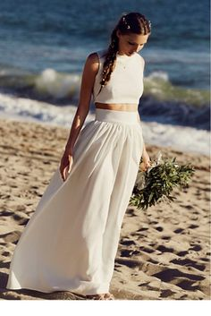 Anna Gown | With flowers in her hair and sand between her toes, they held hands and she said