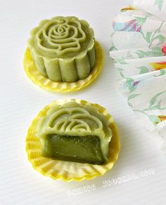 月餅 Green Tea Snowskin Mooncake