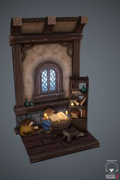 ArtStation - Medieval hand painted house, Antonio Neves