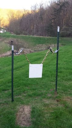 Chain mounting kit for 2 hole plates Shooting Stand, Shooting Bench, Shooting Sports, Shooting Guns, Metal Shooting Targets, Metal Targets, Pistol Targets, Archery Targets, Steel Target Stands