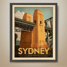 Sydney Harbour Bridge. Sydney Icon. Australian by HarperAndCharlie
