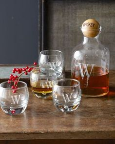 Personalized Whiskey Glass & Decanter Set