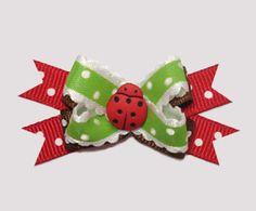 #BTQM460 - Mini Boutique Bow Country Cottage Ladybug