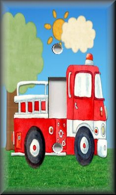 for Michael's room...  Light Switch Plate Cover Big Red Fire Truck Boys Room Decor | eBay