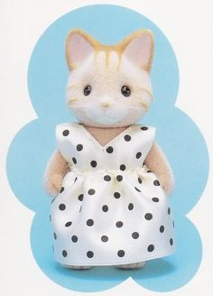 A dress for mother Sylvanians made out of ribbons!
