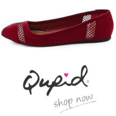 Qupid Swift Burgundy Suede Flats New in box. Never worn. Retail $50. Ideal to wear with just about anything, this ballerina flat will compliment your favorite ensembles. This shoe features an almond toe, slip-on style finished with a lightly padded insole complete this suede beauty. Qupid Shoes Flats & Loafers