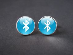 Bluetooth Design Cuff Links - Vintage Style Mens Cufflinks - Gift for Dad , Groom , Groomsmen , with a gift box on Etsy, $10.00
