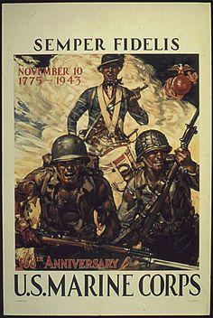 World War II US Marine Poster