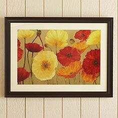 I love poppies, and the warm colors go with our living room decor.
