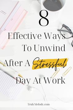 Not sure how to unload after a stressful day at work? Try these effective ways to alleviate stress and start feeling happier when you get home. #StressfulDay #WorkStress #StressAtWork #Relax #Destress  #Selfcare #Selflove #HappierLife #BetterWorkLife #Decompress #Confidence #Happiness