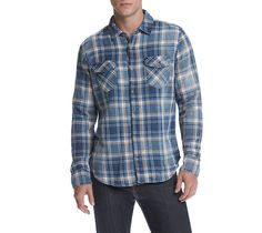 Mens Small Shirt: Long Sleeve Button Down Plaid Lazer Classic Fit #Lazer #ButtonFront
