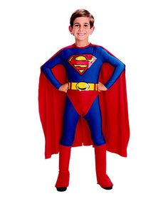 Look what I found on #zulily! Superman Caped Dress-Up Set - Toddler & Kids by Superman #zulilyfinds