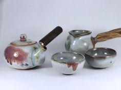 landscape tea set #art#pottery#ceramics#ru kiln porcelain#teaware #agate #handmade ceramics#tea cup#tea-bowls#ceramics arts#ceramics pottery #ceramics bowls