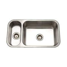 Houzer Elite EHD-3118-1 Double Basin Undermount Kitchen Sink - EHD-3118-1