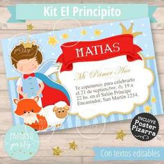 Kit Cumple Imprimible Boca Juniors + Candy Bar - $ 360,00 en Mercado Libre Jean Philippe, Babyshower, Party, Royal Baby Showers, Little Prince Party, One Year Birthday, Free Market, Parties Kids, Il Piccolo Principe