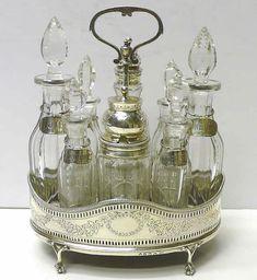 antique sterling condiment set
