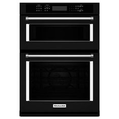 KitchenAid KOCE500EBL Self-Cleaning Microwave Convection Microwave Wall Oven Combo (Black) (Common: 30-in; Actual: 30-in)