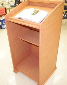 Picture of Homemade Wood Lectern Podium